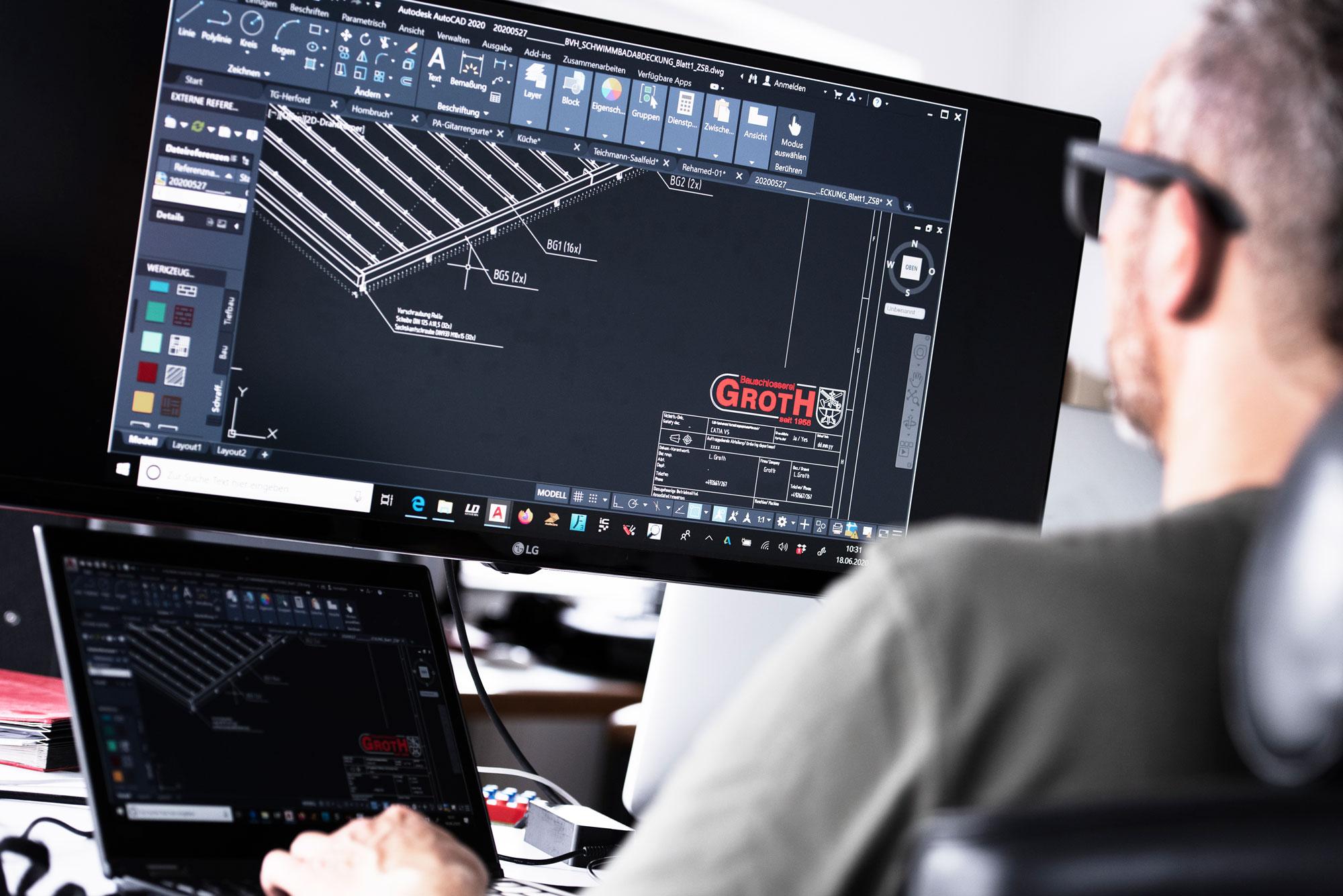 CAD-Konstruktion-bei-der-Bauschlosserei-Groth